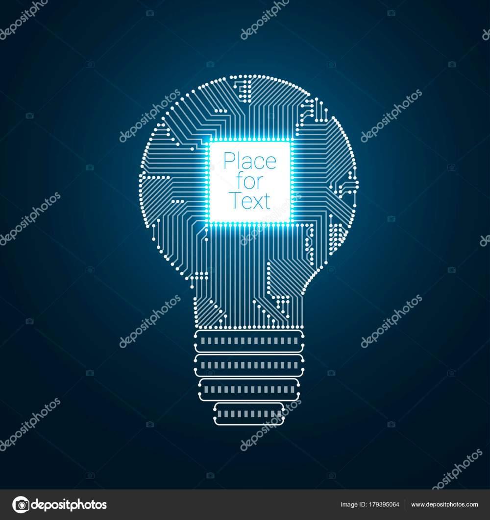 medium resolution of light bulb idea icon with circuit board inside stock vector