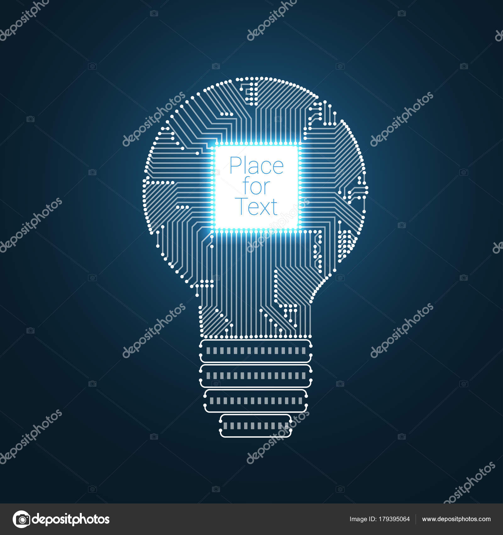 hight resolution of light bulb idea icon with circuit board inside stock vector