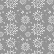 Abstract Seamless Snowflake gray Pattern — Stock Vector