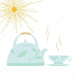✅ Cartoon kettle with boiling water and a cup Vector illustration premium vector in Adobe Illustrator ai ai format Encapsulated PostScript eps eps format