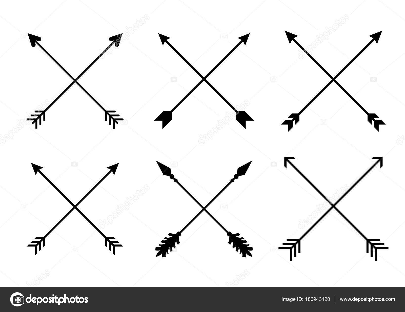 Criss Cross Hipster Arrows Arrows In Boho Style Tribal