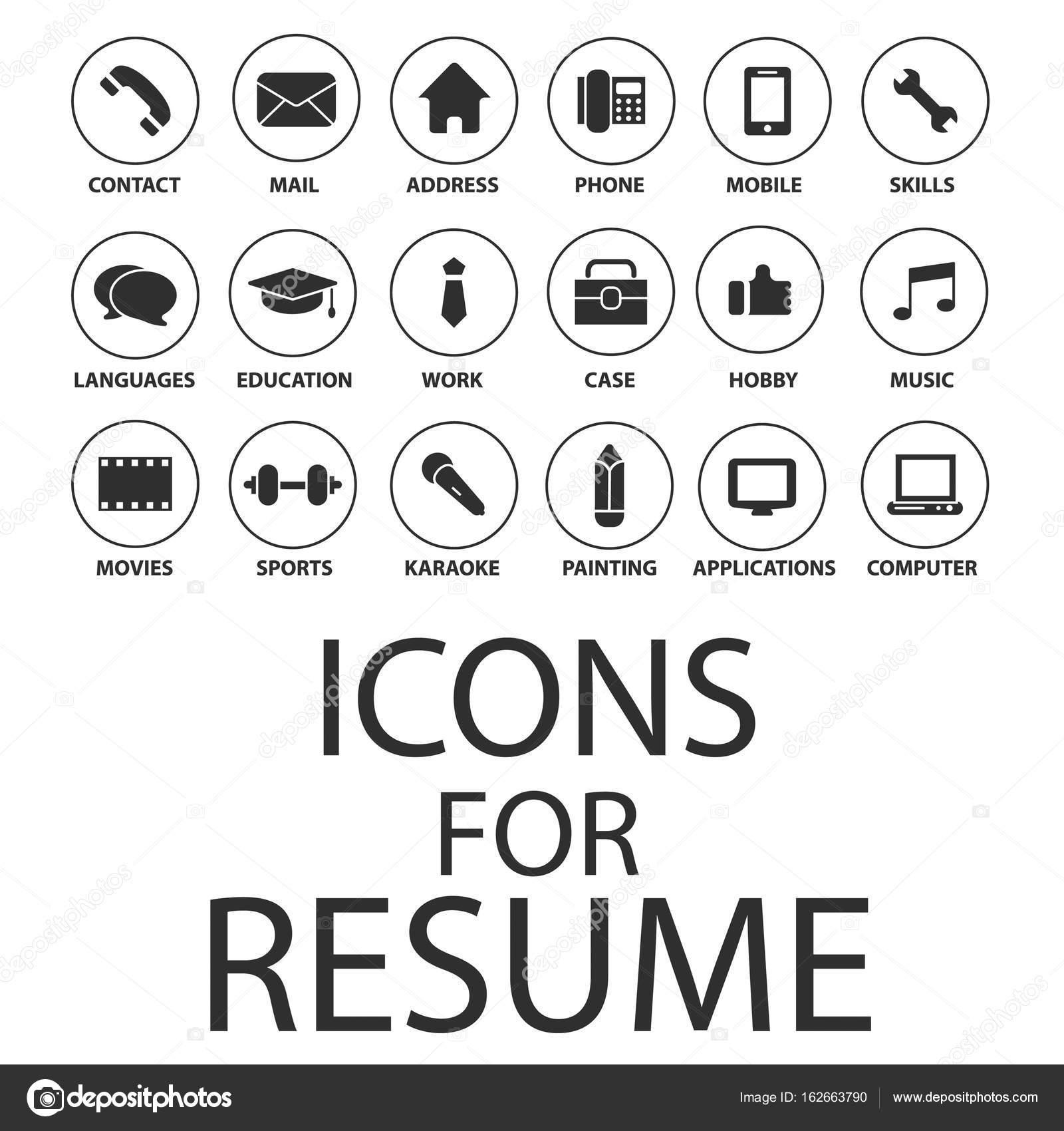 CV resume ikony — Grafika wektorowa © Hsynff #162663790