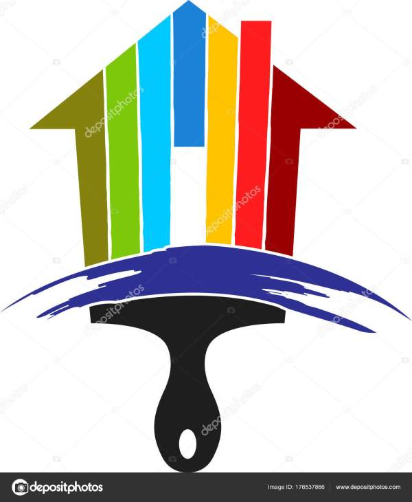 House Paintbrush Logo