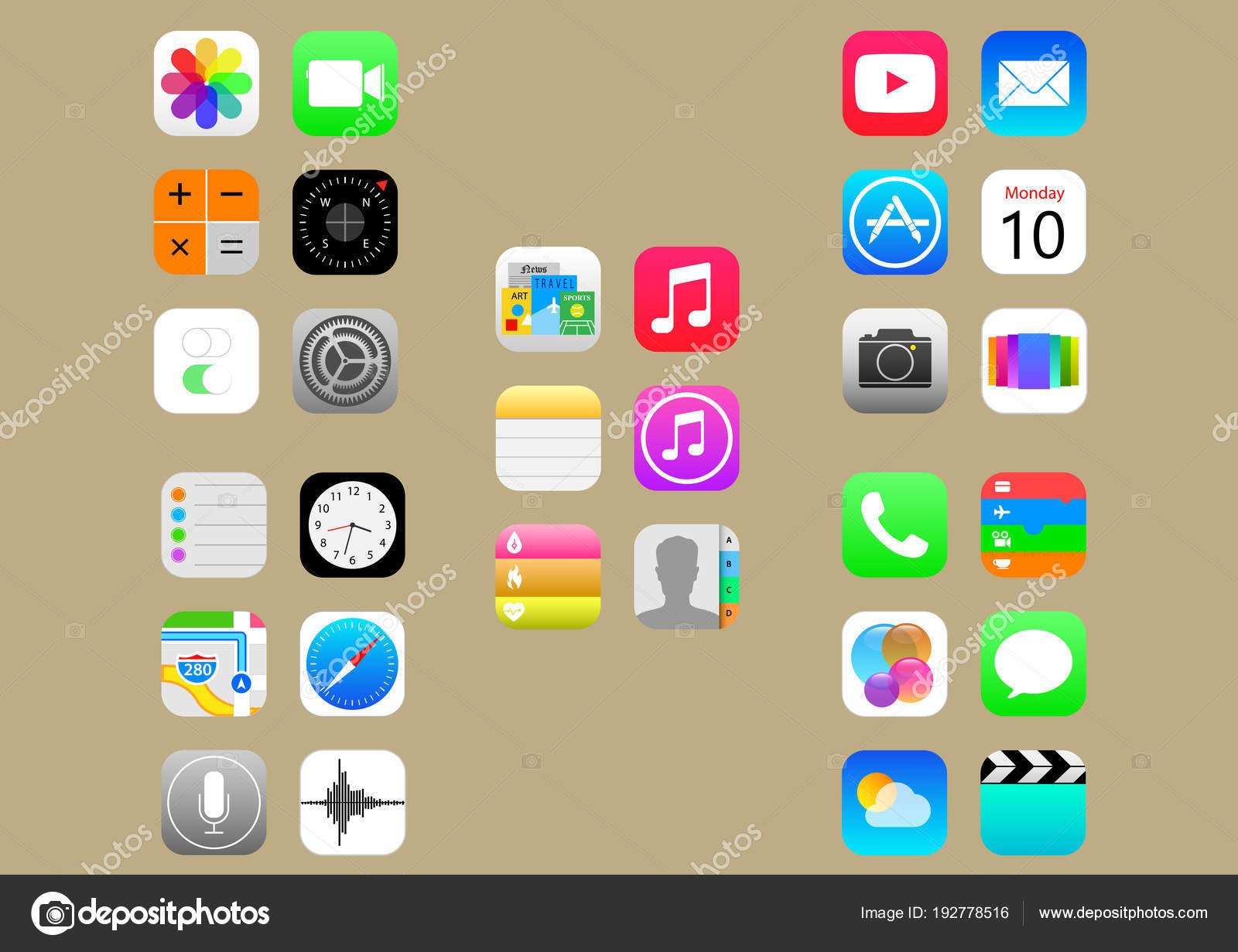 ios icons pack stock