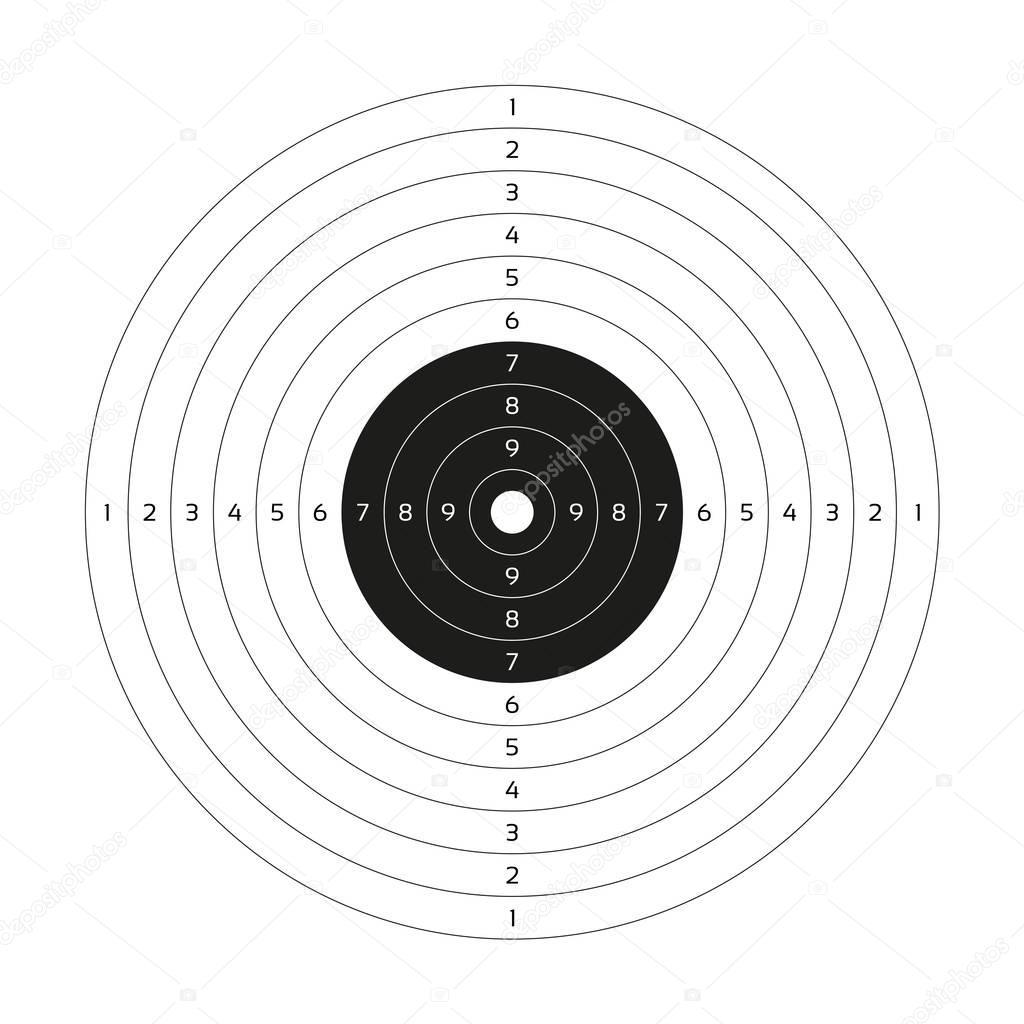 Leere Vektor Pistole Target Zielscheibe Papier Leere