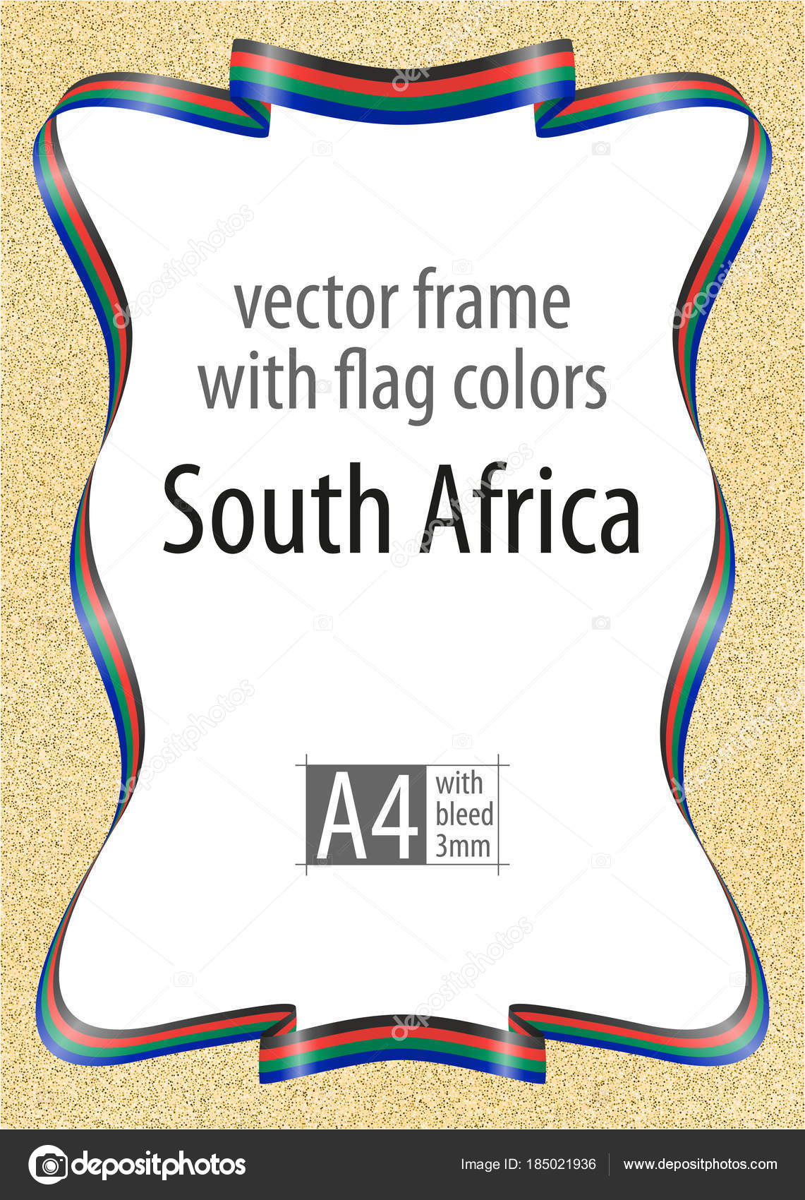 Frame And Border Of Ribbon With The Colors Of The South