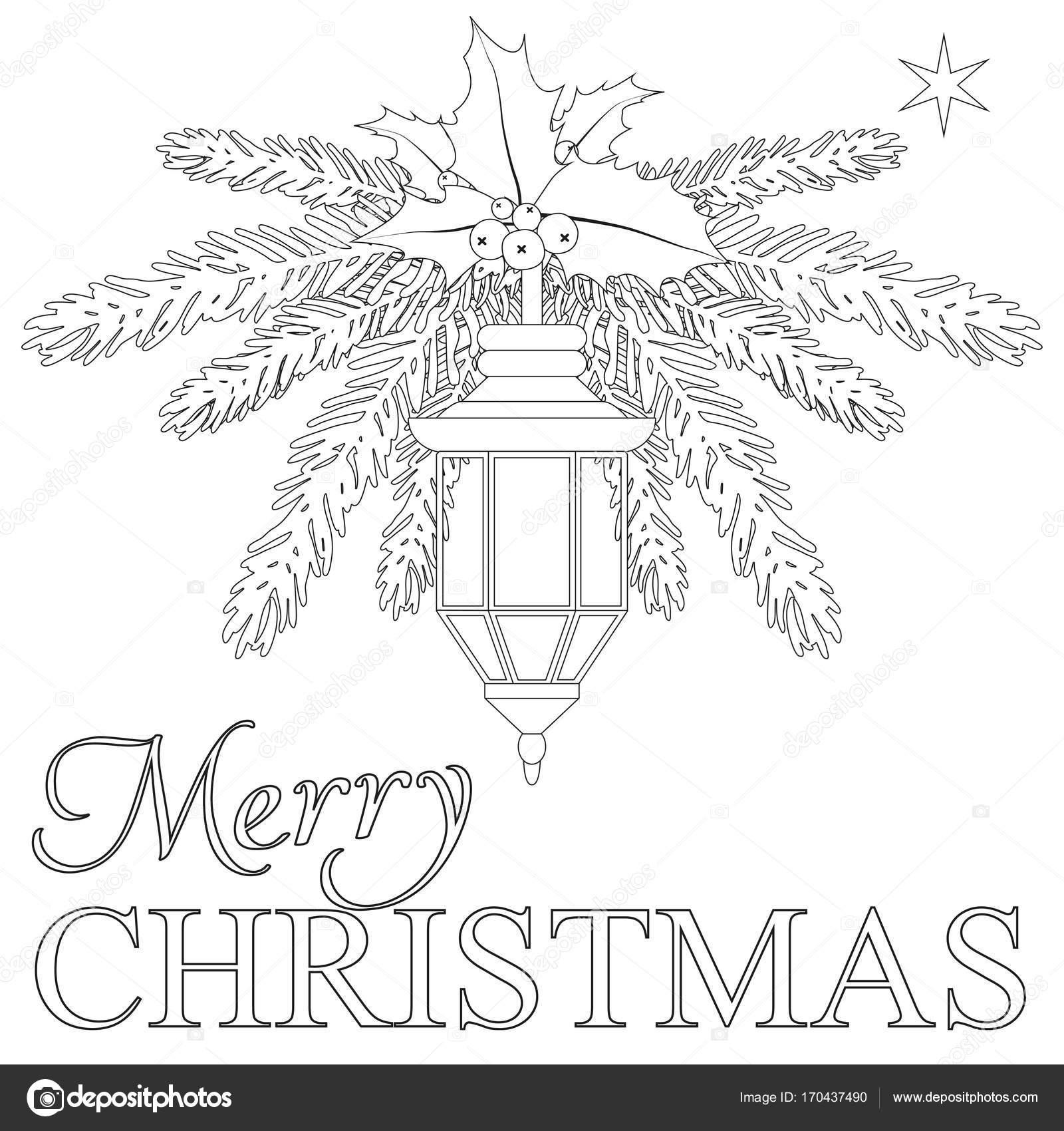 Frohe Weihnachten Malbuch Seite - Vektorgrafik