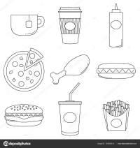 Dibujos De Alimentos Saludables Para Colorear