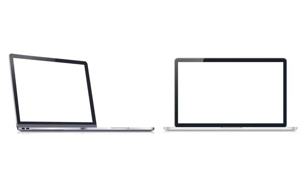 Modern web design vector template with laptop, tablet