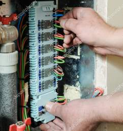 switching signal wires in the home s heating system control stock photo [ 1052 x 1700 Pixel ]
