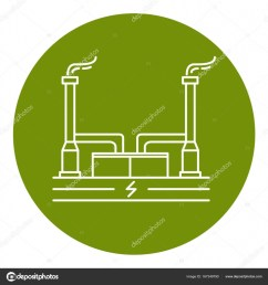 geothermal power plant icon in thin line style stock vector [ 963 x 1024 Pixel ]