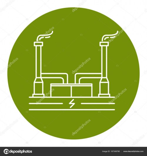 small resolution of geothermal power plant icon in thin line style stock vector