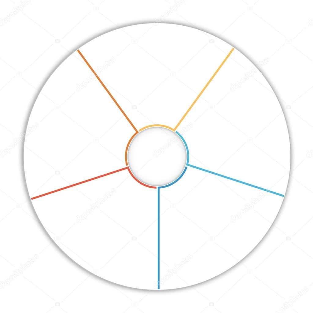 Template Infographic Pie Chart Diagram 5 Options