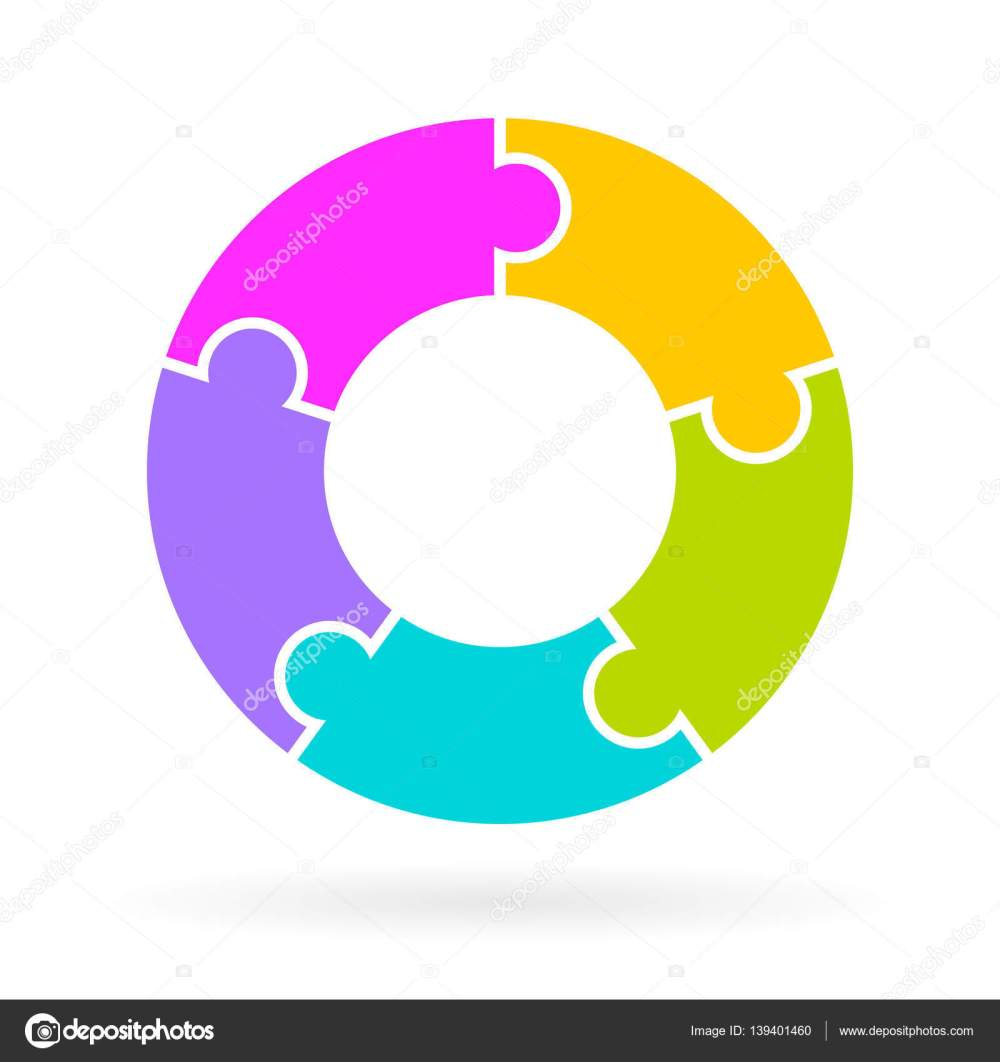 medium resolution of 5 step life cycle diagram stock illustration