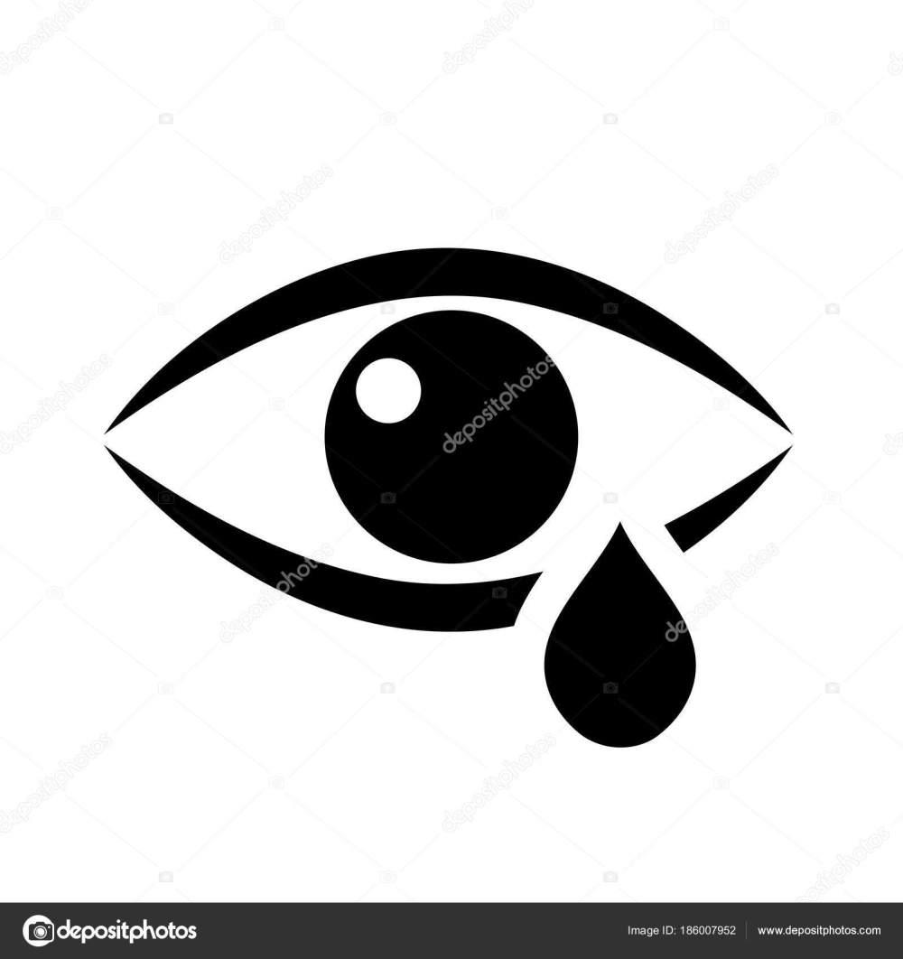 medium resolution of tear eye vector flat icon stock vector