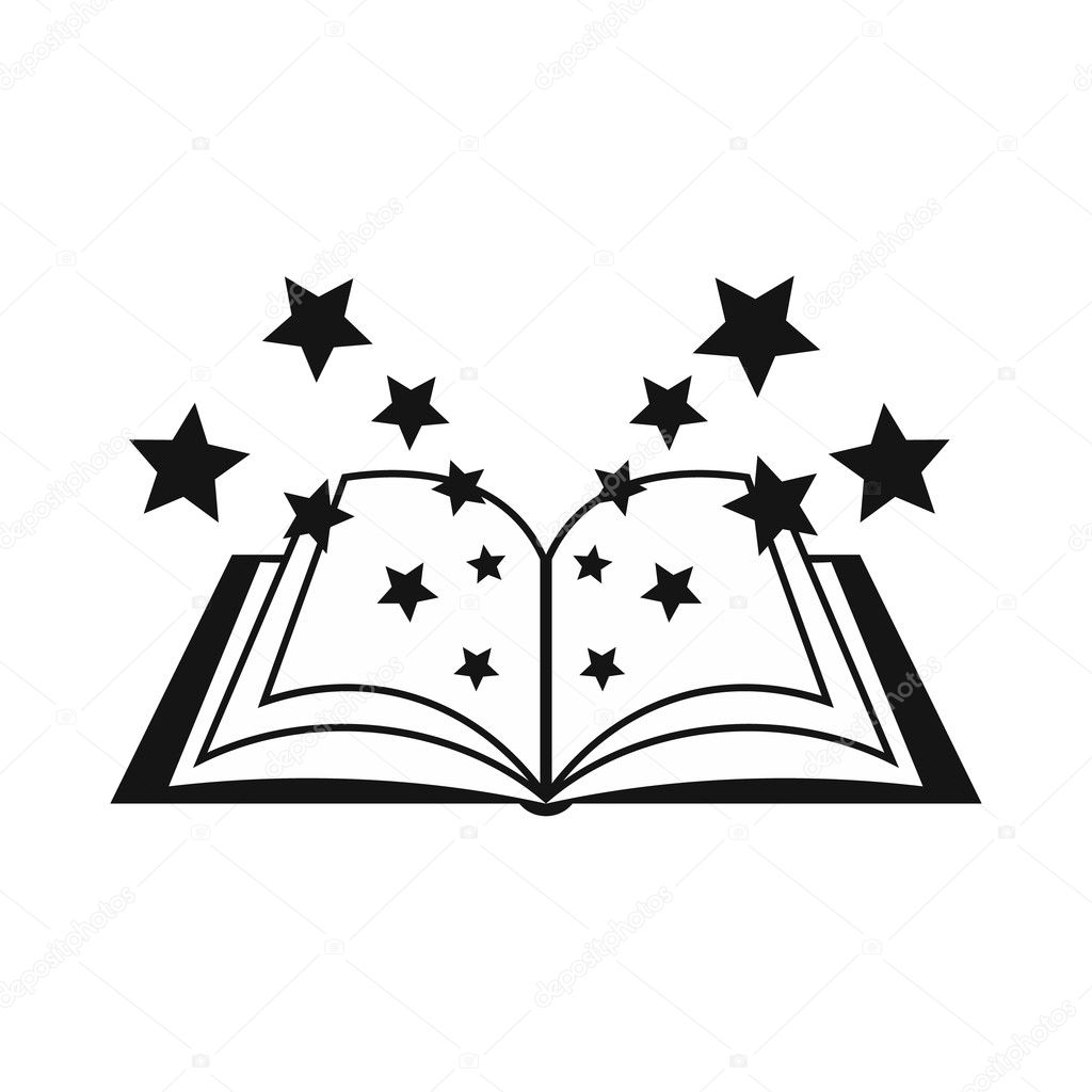 Magic book icon, simple style — Stock Vector © ylivdesign