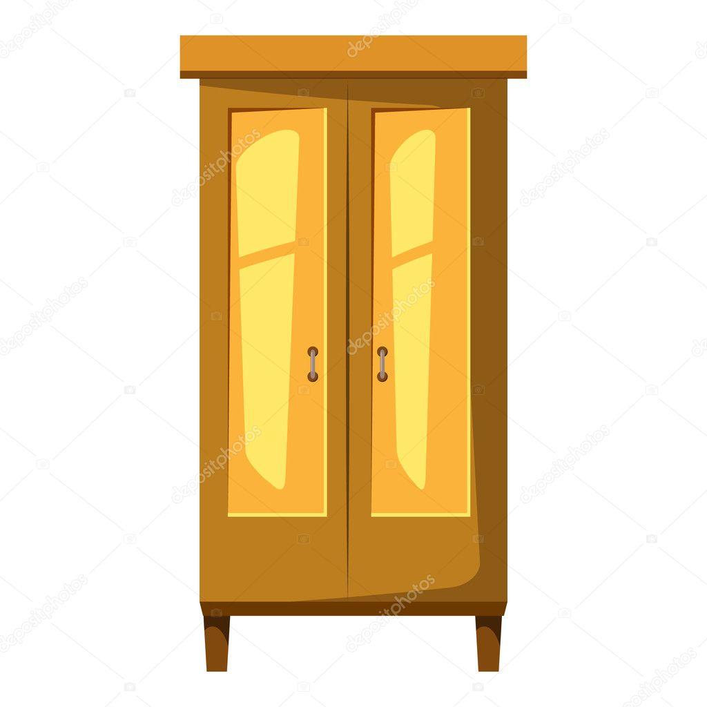 Animado armario  Armario para icono de ropa estilo de