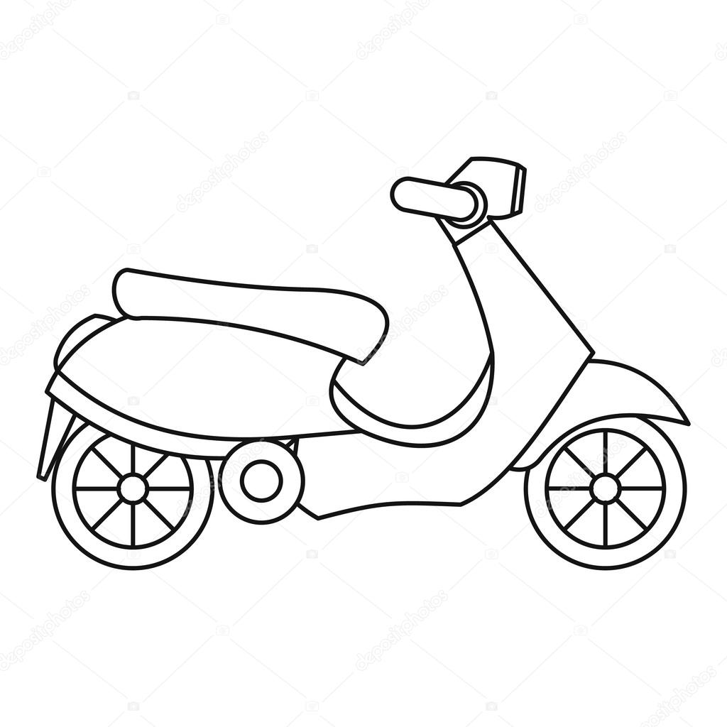 Scooter Icon Outline Style