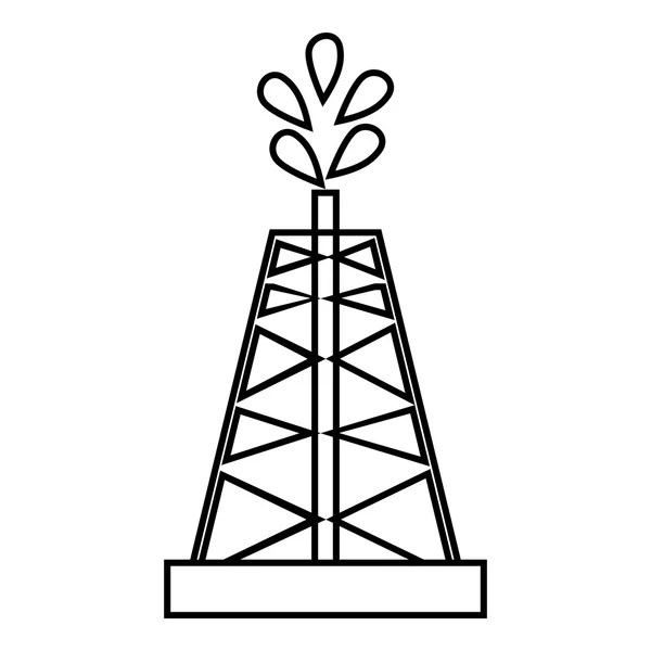 Oil rig icon, simple style — Stock Vector © ylivdesign