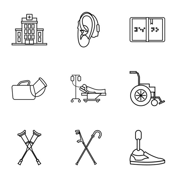 Hearing aid icon, outline style — Stock Vector