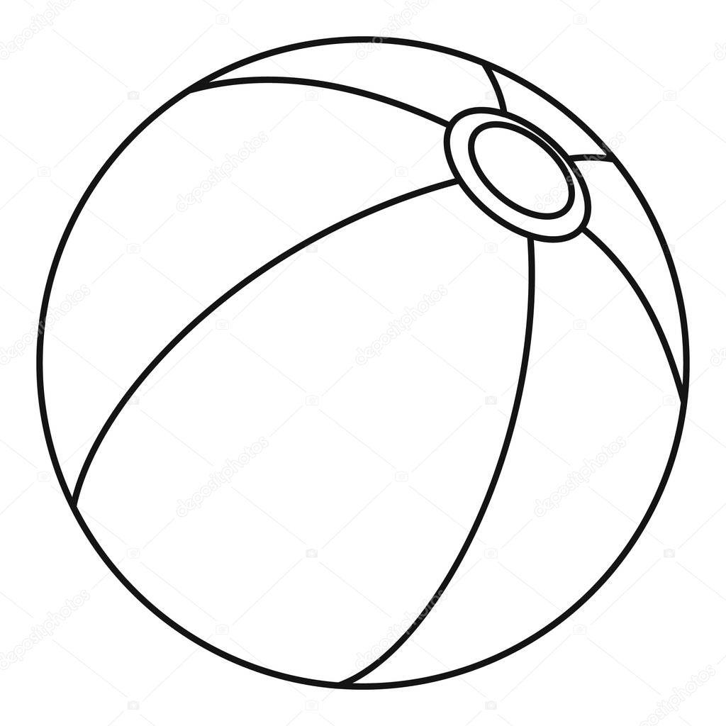 Beach Ball Icon Umriss Stil