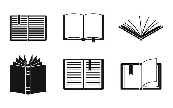 Open book vector clipart silhouette, symbol, icon design