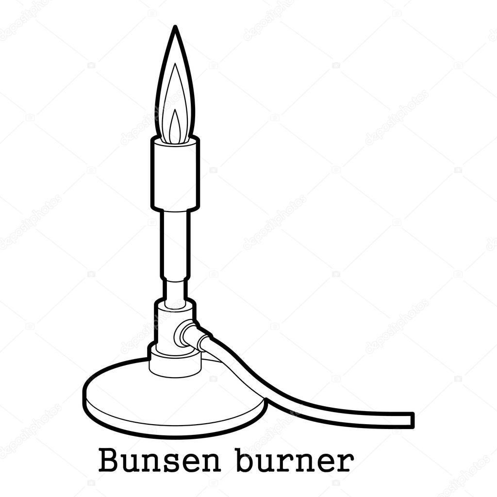 Esquema De Icono Del Mechero De Bunsen