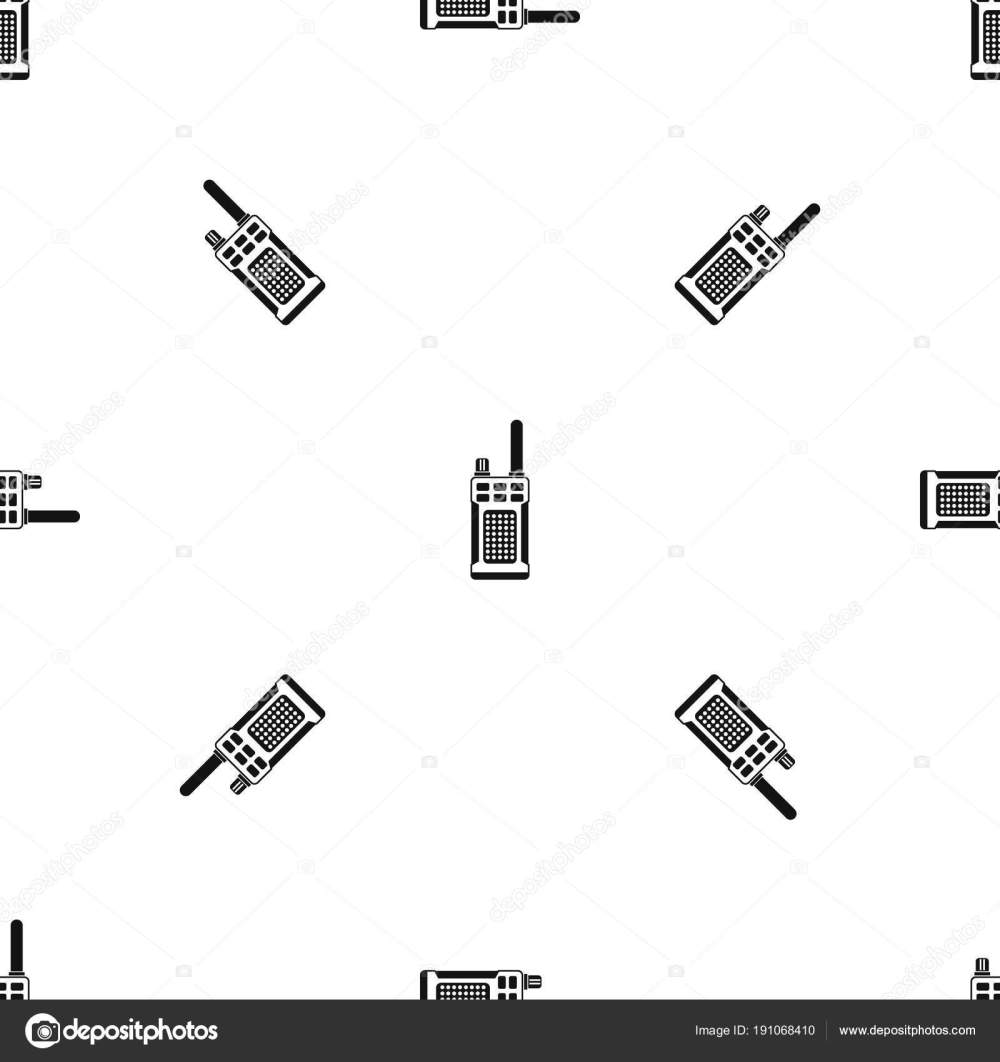 medium resolution of patr n de radio handheld portable repita transparente en color negro para cualquier dise o ilustraci n geom trica de vectores vector de ylivdesign