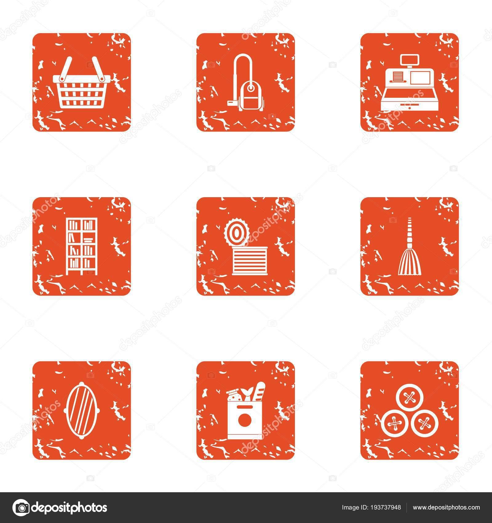 kitchens store chinese kitchen accessories 厨房商店图标设置 垃圾样式 图库矢量图像 c ylivdesign 193737948 图库矢量图片
