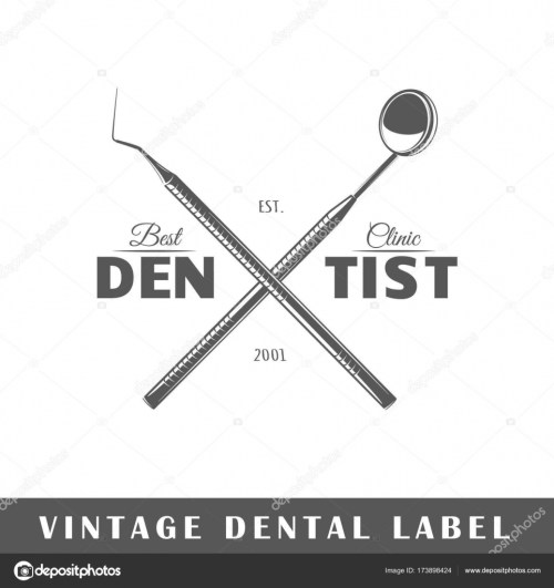 small resolution of dental label isolated on white background design element template for logo signage branding design vector illustration vector by shabanov sergey