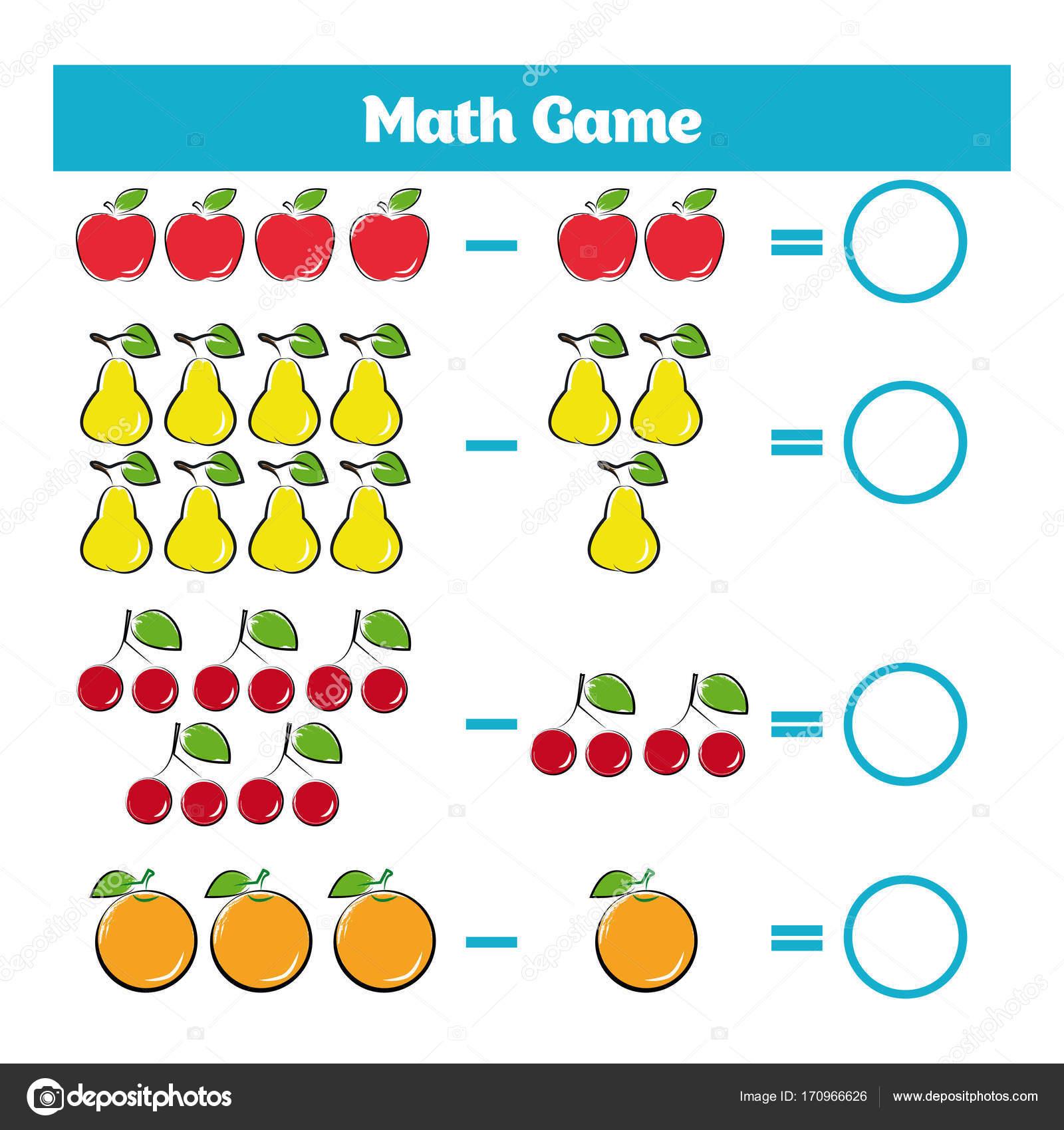 Matematicas Juego Educativo Para Ninos Hoja De Trabajo De
