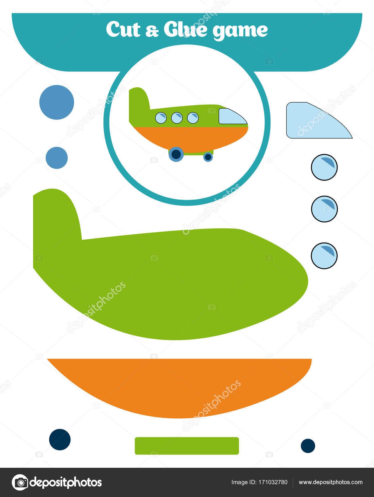 Paper Game For The Development Of Preschool Children Cut