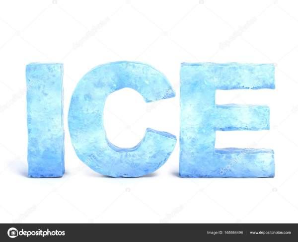 冰字冰由3d 渲染 图库照片koya979165984496