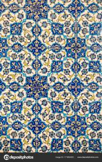 flower patterns on ceramic tiles in the old Turkish style ...