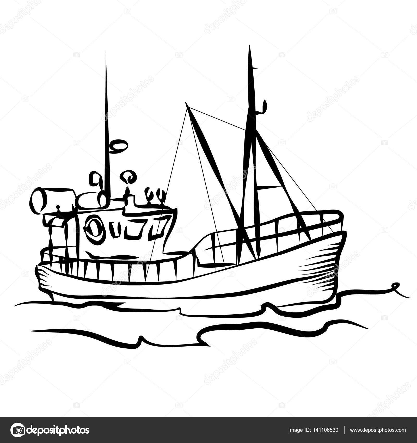 Fishing Boat Graphic
