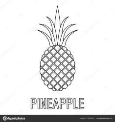 Pineapple icon outline style Stock Vector © anatolir #178914238