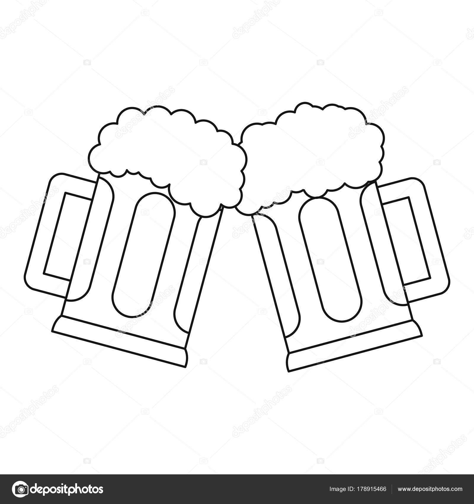 Beer Mug Icon Outline Style