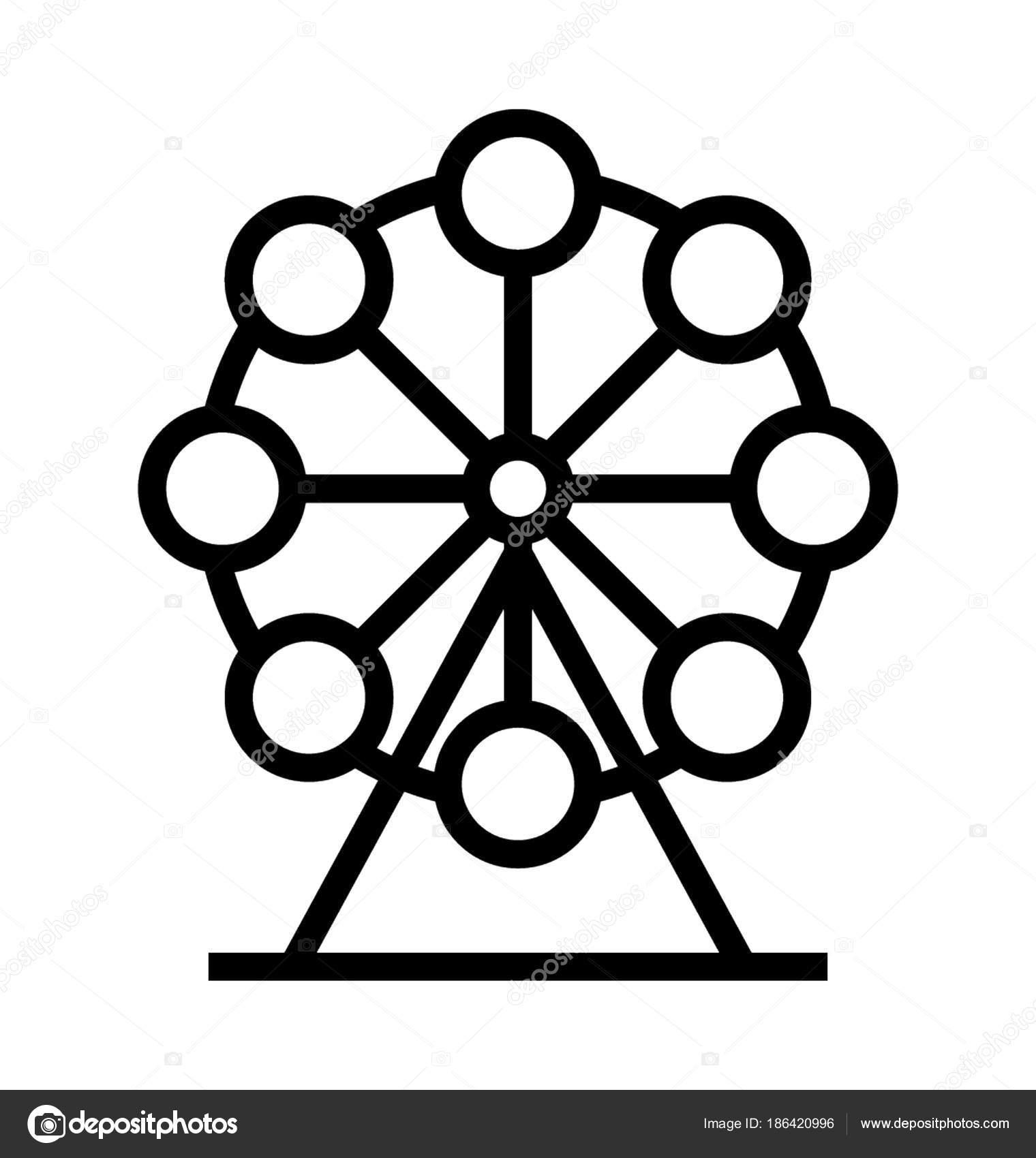 Icone Vetor Roda Gigante