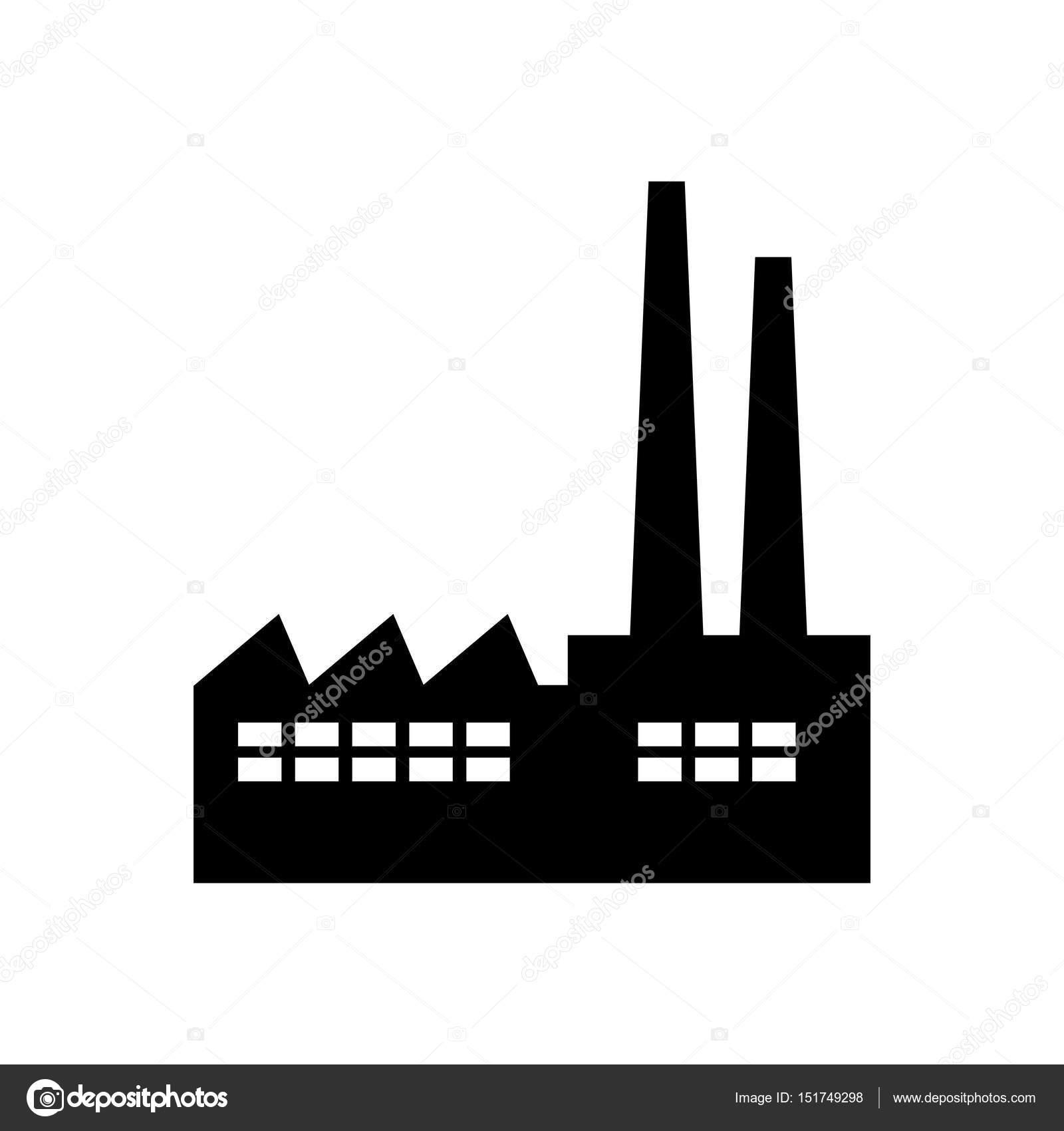 black factory vector icon