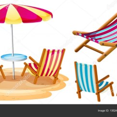 Beach Chair And Umbrella Clipart How High To Install Rail Molding Chairs Stock Vector C Interactimages 135245796 Illustration By