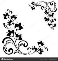 Black White Floral Pattern Vector Ornamental Decorative ...