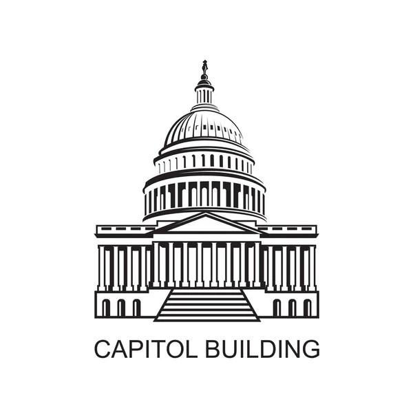 Unated States Capitol Building Icon Washington — Stock