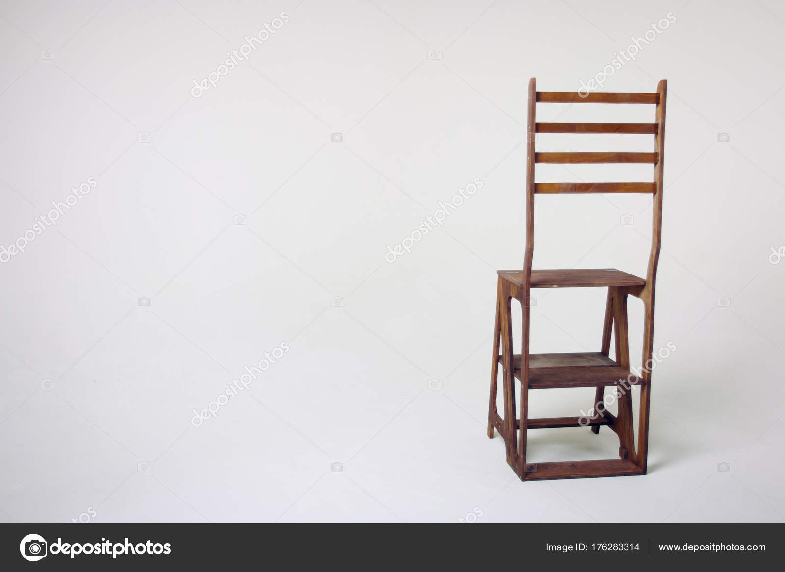 unusual wooden chair restoration hardware dining chairs white background stock photo c maratj34