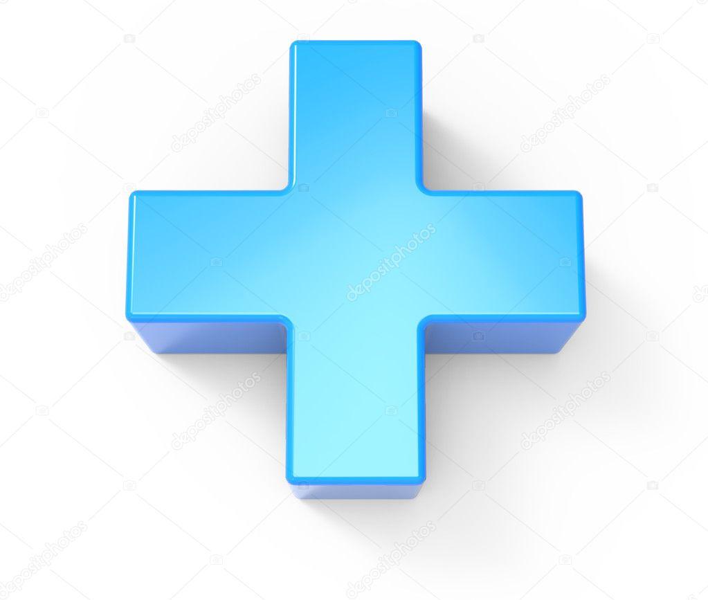 Foto: signo mas | signo mas azul — Foto de stock © kchungtw #127942084