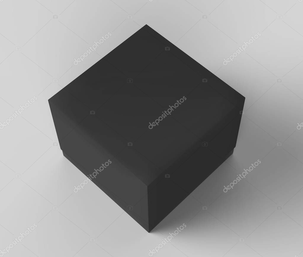 Download Flat black box mockup — Stock Photo © kchungtw #163324868