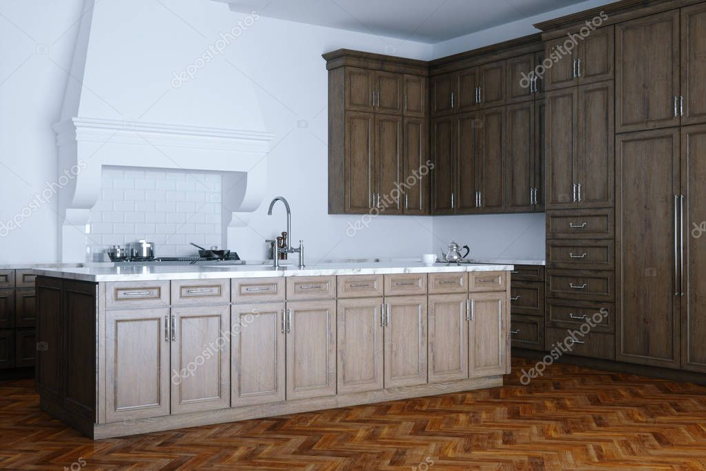 kitchen aid classic plus pictures for wall 经典的木制厨房援助和白色内饰木公园 图库照片 c viz arch 130274868
