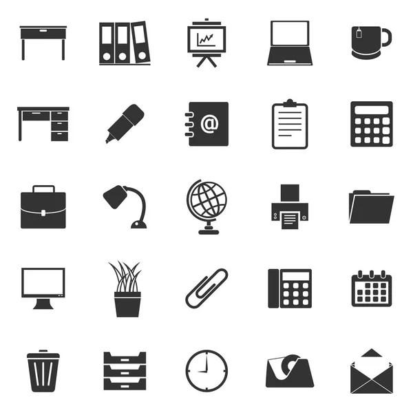 office work icon set, vector eps10 — Stock Vector