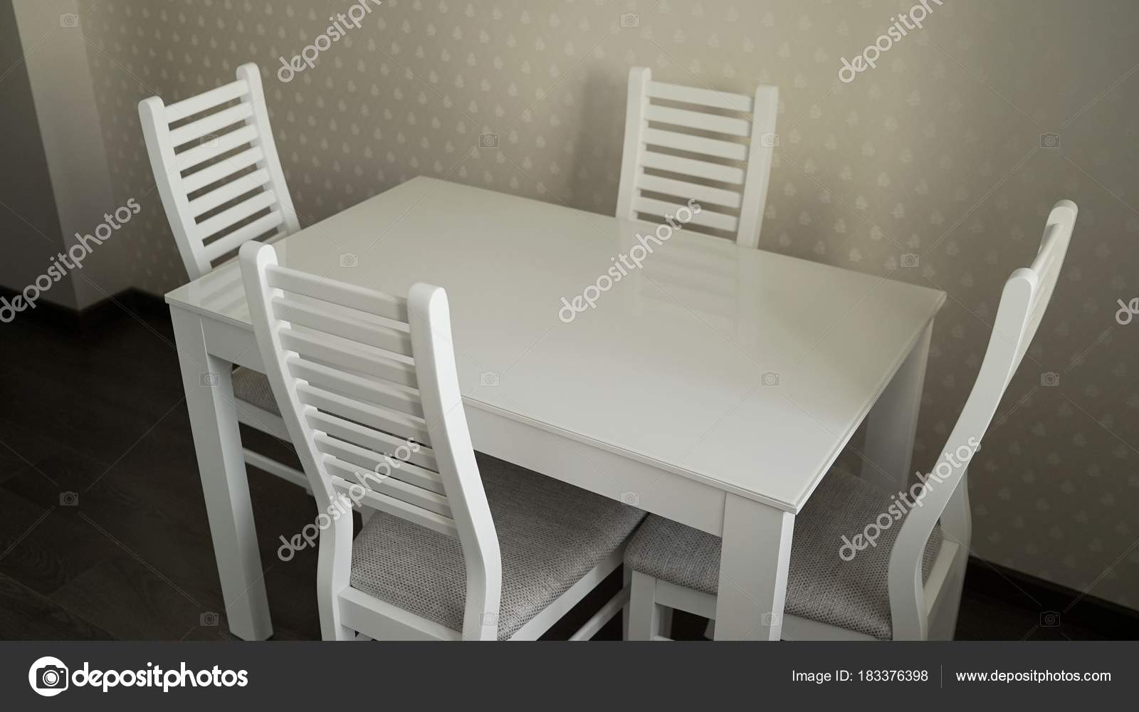 chairs for kitchen table aid classic 带椅子的厨房桌子厨房餐桌和椅子 图库照片 c rusrussid2 183376398