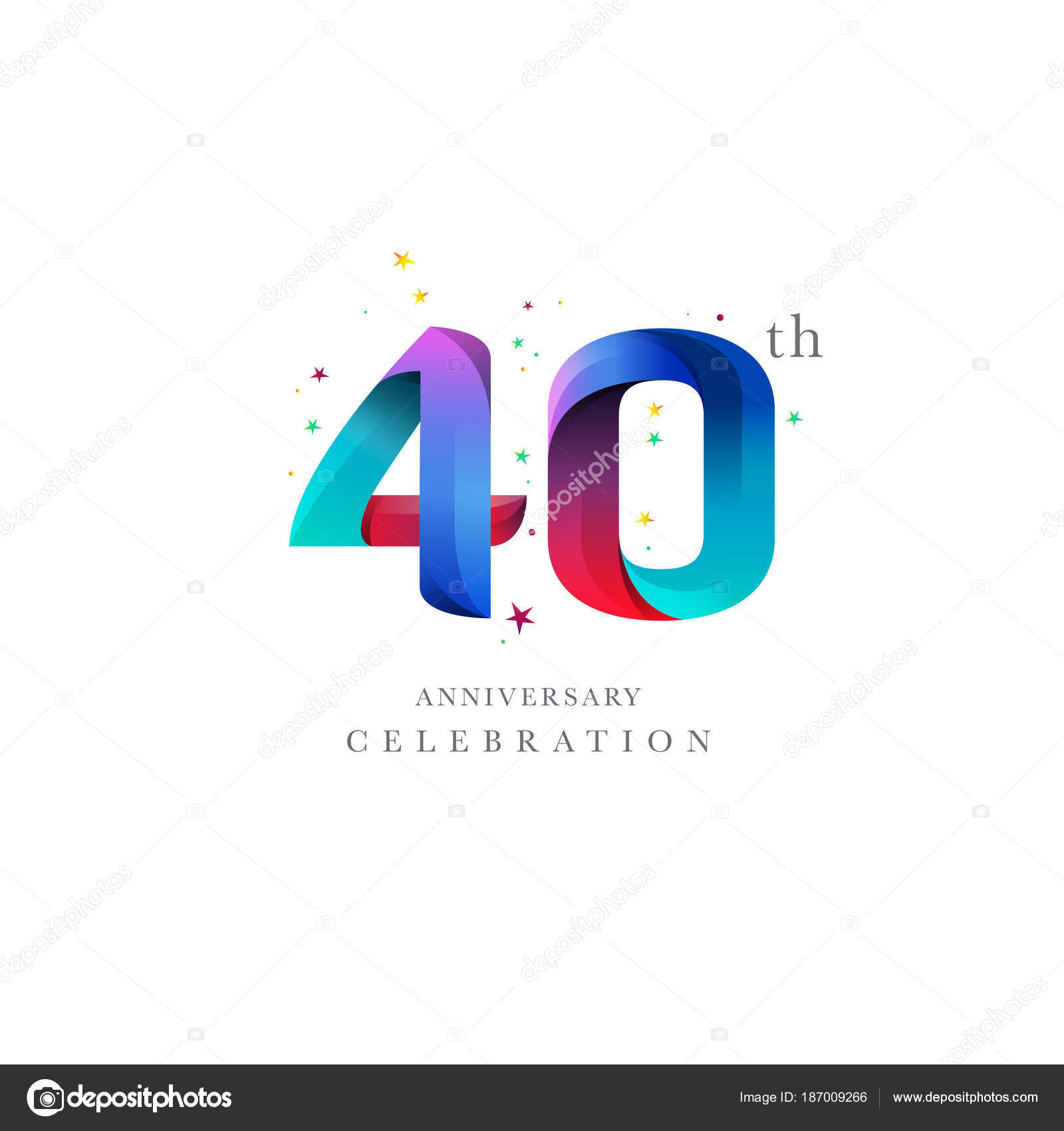 40th anniversary logo design