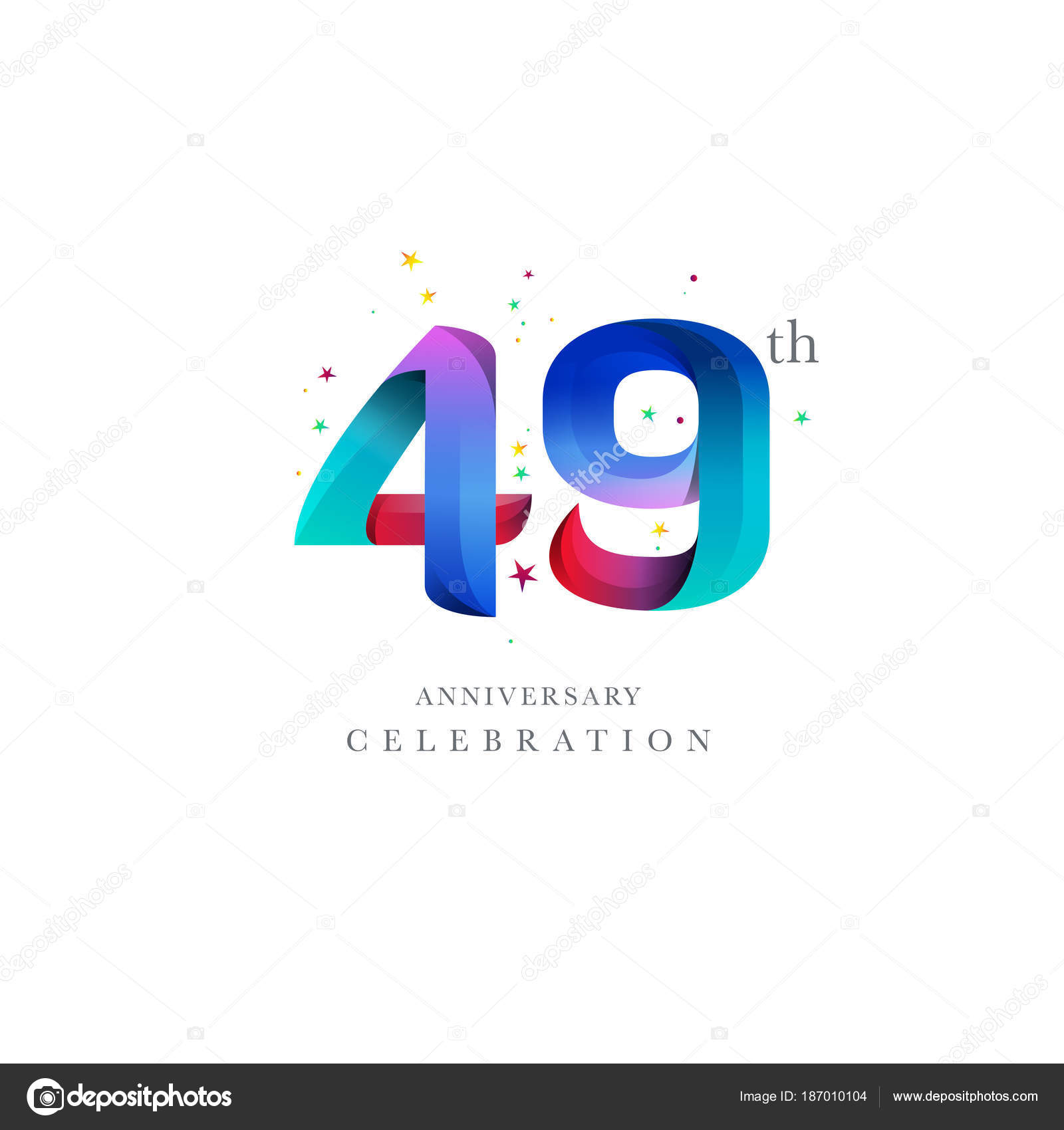 49th anniversary logo design
